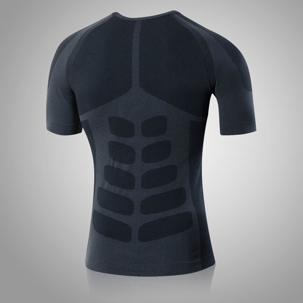 Men's Cool Dry Slimming Running Fitness Abdomen Vest CF2225 black_01