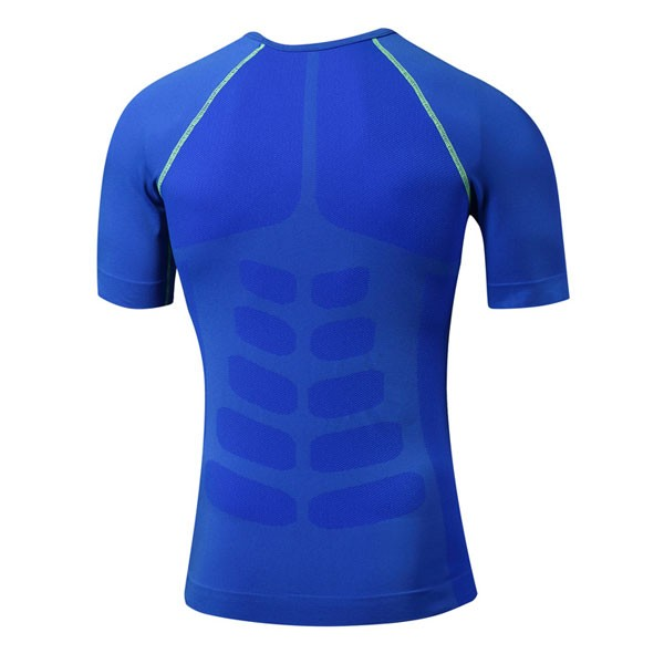 Men's Cool Dry Slimming Running Fitness Abdomen Vest CF2225 blue_01