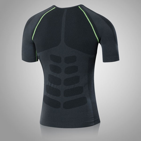 Men's Cool Dry Slimming Running Fitness Abdomen Vest CF2225 green_01