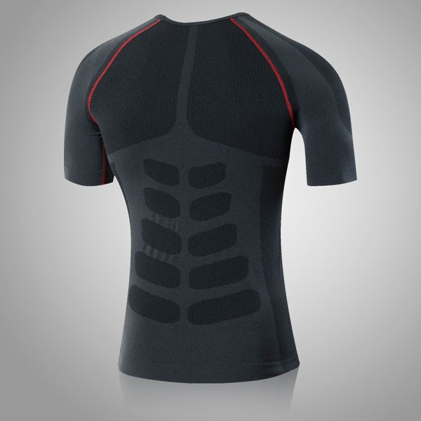 Men's Cool Dry Slimming Running Fitness Abdomen Vest CF2225 red_01