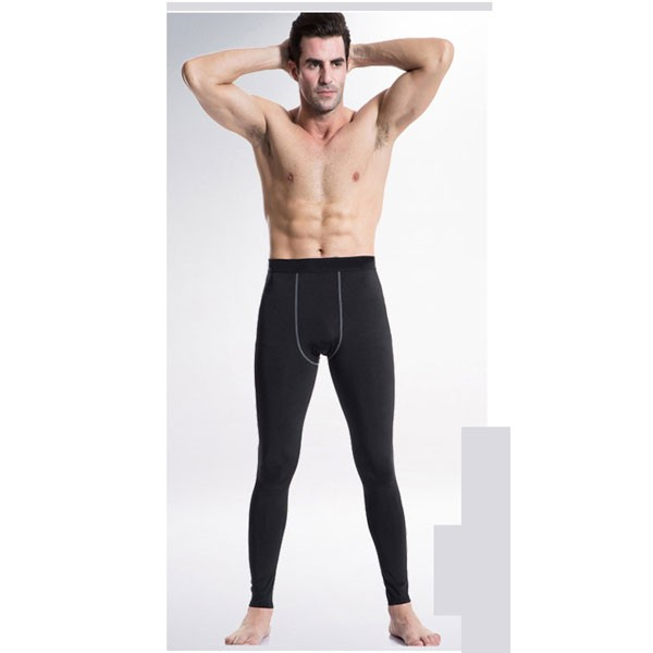Men's Slimming Compression Long Stretch Performance Sportswear CF2214 black
