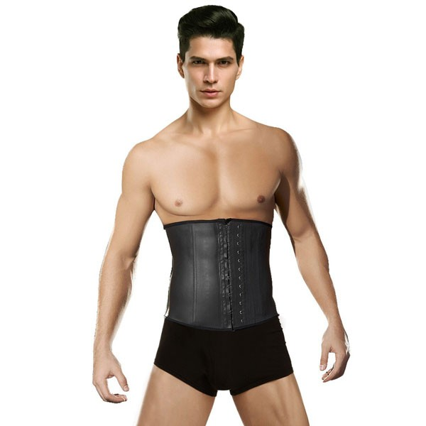 d452d604d2 Wholesale Men s Tummy Control Steel Boned Black Waist Trainer Sport Latex  Shapewear CF9066
