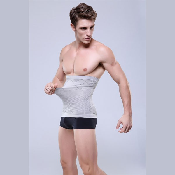 Men Slimming Compression Body Shaper Diamond Short Underpants CF2101 grey_02