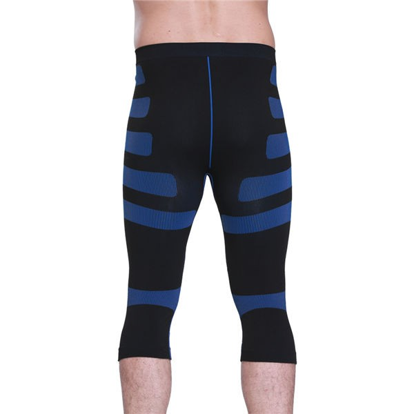 Men Stripe Compression Body Shaper Short Underpants CF2023 blue_02