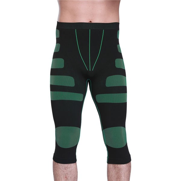 Men Stripe Compression Body Shaper Short Underpants CF2023 green