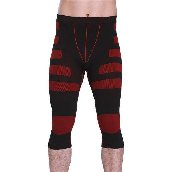 Men Stripe Compression Body Shaper Short Underpants CF2023 red