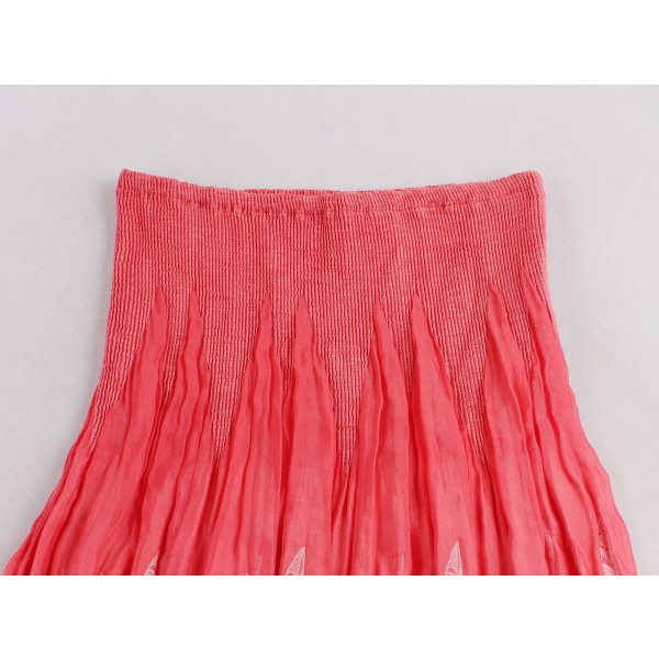 Pinup Chic Ruffles Vintage Stripless Rockabilly Cocktail Swing Skirt Dress CF1444 Red_02