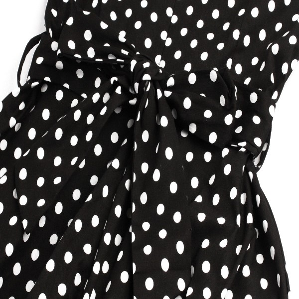 Polka Dot 3/4 Sleeve Sweetheart Neck Vintage Rockabilly Swing Dress CF1400_04