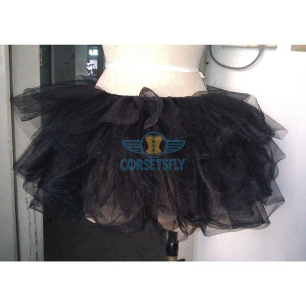 Princess Costume Ballet Warrior Dash Run Running Skirt Tutu Rave Tulle Skirt CF6520 Black