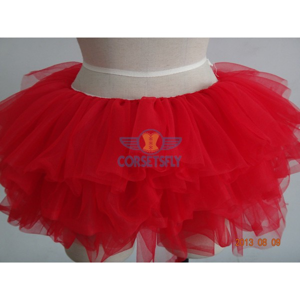 Princess Costume Ballet Warrior Dash Run Running Skirt Tutu Rave Tulle Skirt CF6520 Red