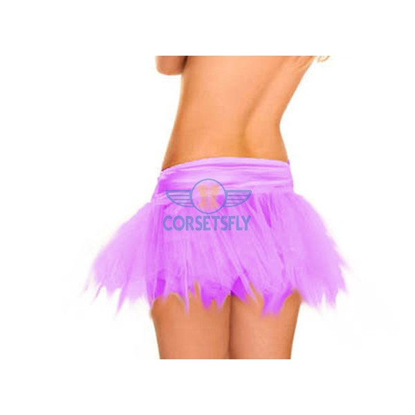 Ravewear Honey Multi-Layer Mini Hot Lingerie Petticoat Tutu For Women CF6519 Purple