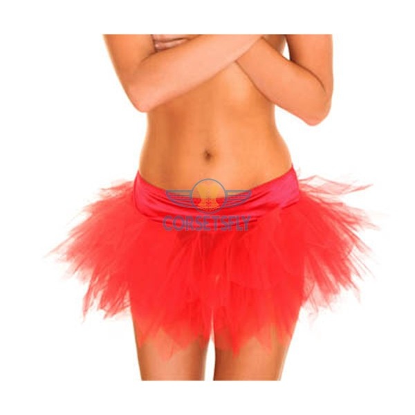 Ravewear Honey Multi-Layer Mini Hot Lingerie Petticoat Tutu For Women CF6519 Red