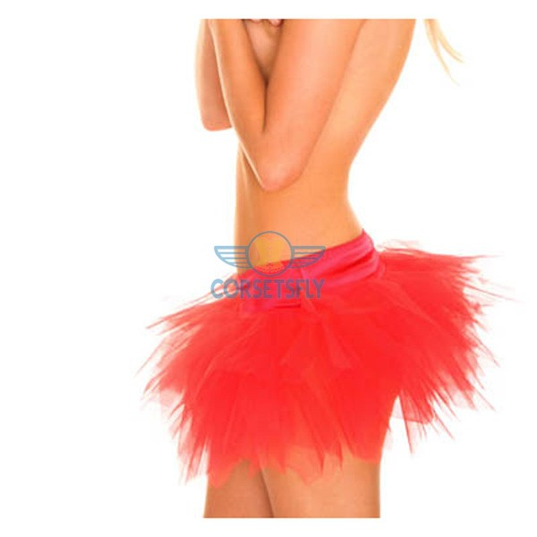 Ravewear Honey Multi-Layer Mini Hot Lingerie Petticoat Tutu For Women CF6519 Red_01