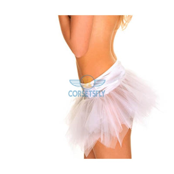 Ravewear Honey Multi-Layer Mini Hot Lingerie Petticoat Tutu For Women CF6519 White
