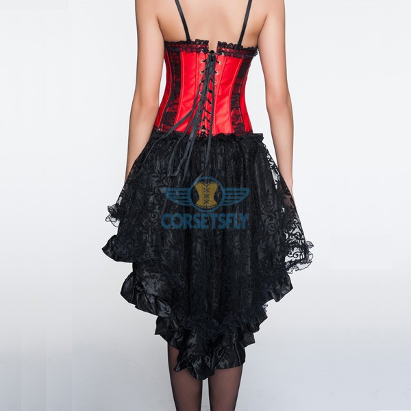 Removable Shoulder Straps Criss Cross Corset with Voluminous Layered Skirt CF6820_02