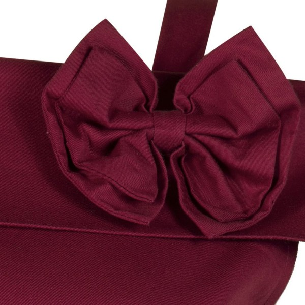 Rockabilly Swing 1950s Strappy Vintage Bowknot Evening Party Dress CF1237 Burgundy_03