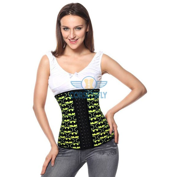 Waist Trainer for Weight Loss Latex Workout Slimming Hourglass Corset CF9014 Yellow_04