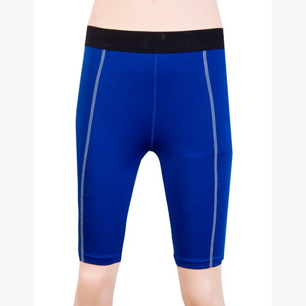 Women's Dry Elastic Athletic Compression Shorts CF2233 blue