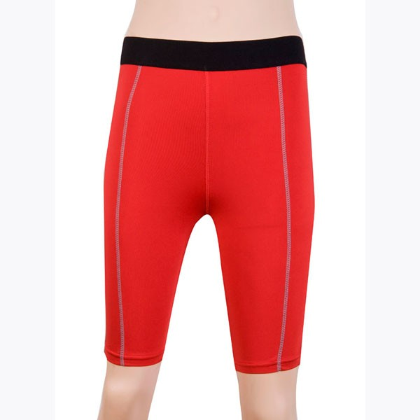 Women's Dry Elastic Athletic Compression Shorts CF2233 red