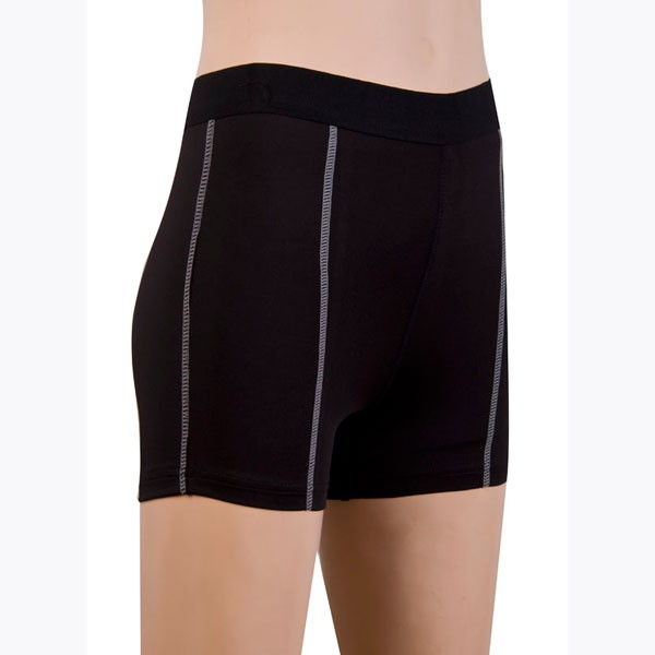 Women's Fit Elastic Athletic Compression Shorts CF2235 black_01