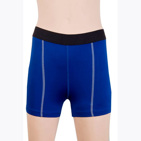 Women's Fit Elastic Athletic Compression Shorts CF2235 blue
