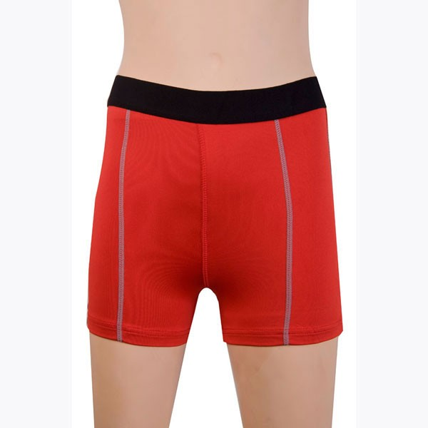 Women's Fit Elastic Athletic Compression Shorts CF2235 red