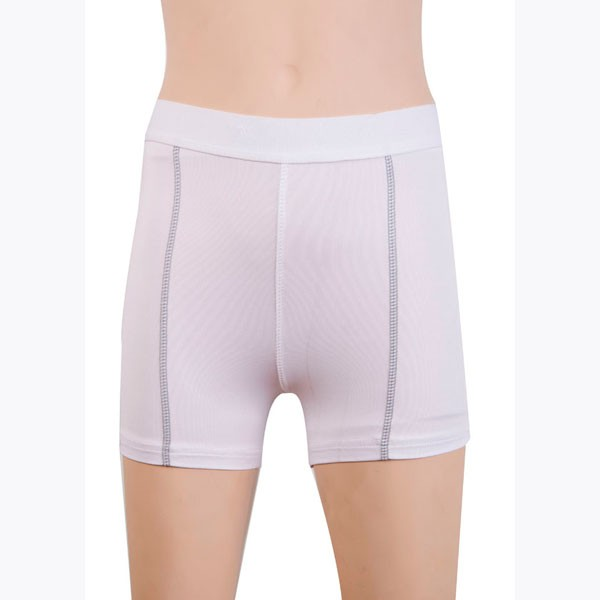 Women's Fit Elastic Athletic Compression Shorts CF2235 white