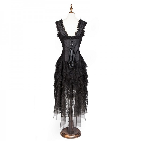 Women's Vintage Showgirl Victorian Steampunk Corset Dress Dancer Costume CF8063_02
