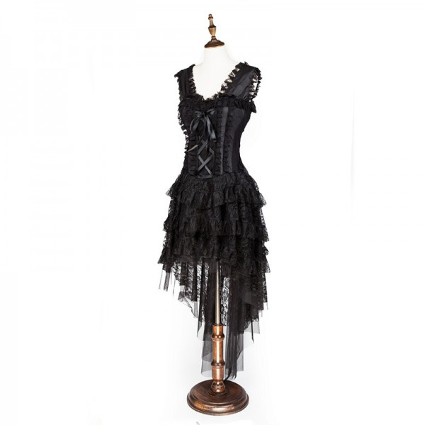 Women's Vintage Showgirl Victorian Steampunk Corset Dress Dancer Costume CF8063_03